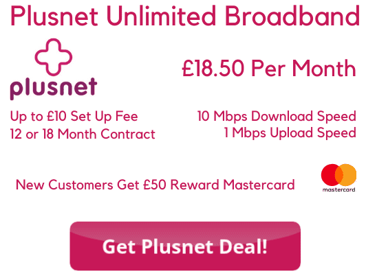 Plusnet Unlimited Broadband 18.99 Per Month